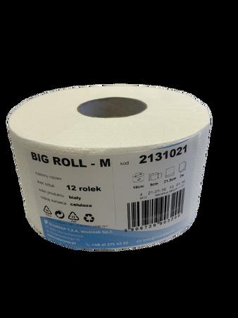 Papier toaletowy BIG ROLL M 2131021 biały celuloza op.12 szt. (1)